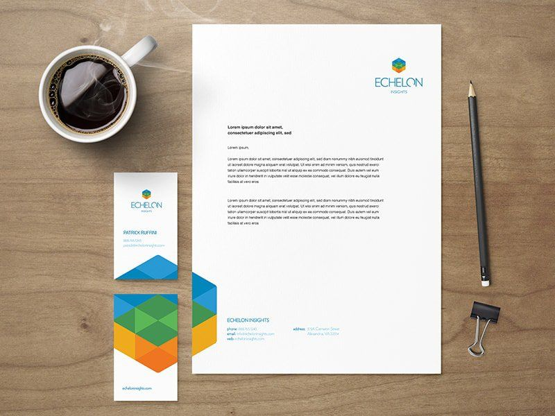 Example of well designed stationery